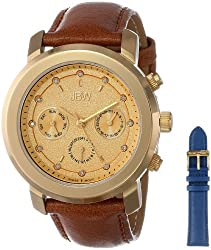 JBW Women's J6276-setA Diamond-Accented Gold-Tone Watch with Interchangeable Leather Bands