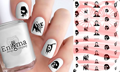 Michael Myers Halloween Accessories (Clear Water-Slide Nail
