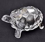 IndianStore4All Fengshui Vastu Original Clear Crystal Turtle for Peace & Prosperity (Small)