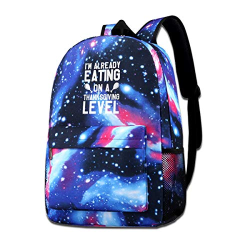 Thanksgiving - I'm Already Eating On A Thanksgiving Level Adult Unisex Mens Womens Fashion Colorfull Style Sports Shoulders Bag