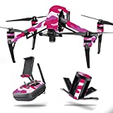 MightySkins Skin for DJI Inspire 2 – Pink Camo | Protective, Durable, and Unique Vinyl Decal wrap Cover | Easy to Apply, Remove, and Change Styles | Made in The USA