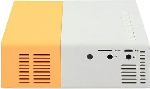 Ballylelly Mini proyector LED YG300 Alta resolución Ultra portátil ...