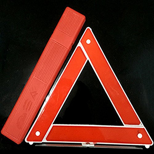 Ocamo Car Emergency Breakdown Warning Triangle Red Reflective Safety Foldable Parking Stander
