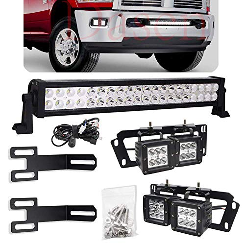 (Dasen For Dodge Ram 2500 3500 2010-2019 Lower Hidden Bumper Grille 20