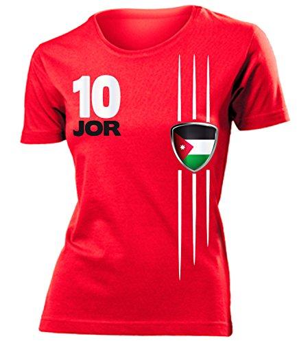 coppa del Mondo - Campionati Europei JORDANIEN mujer camiseta Tamaño S to XXL varios colores Rojo
