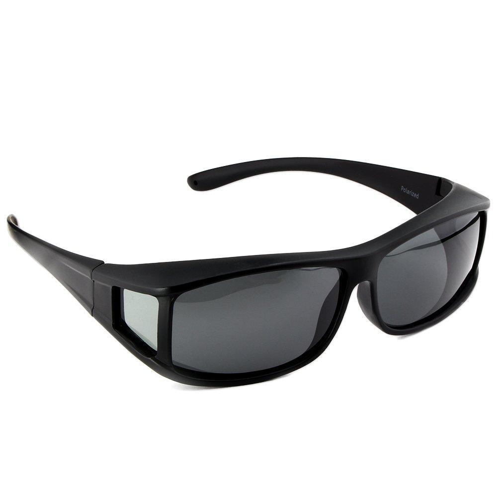 Gafas de sol superpuestas ACTIVE SOL para hombres | Gafas de sol superpuestas UV400 | polarizadas | Gafas polarizadas Fit-over para personas que llevan gafas