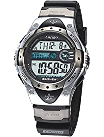 PASNEW Boys Watches, LCD Digital Watches, Waterproof 100M Sports Watches Silver