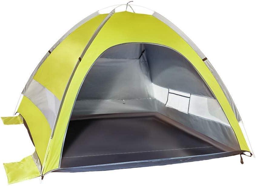 Camping Tent 2 persoons tent Volautomatische Sunscreen Tent Portable Tent van het strand geschikt for buiten, wandelen en Hiking ZHNGHENG (Color : Yellow gray) Yellow gray