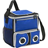 Bellino Easy Carry-On Picnic/Beach BBQ Party 2 Speaker Sound Cooler, Blue