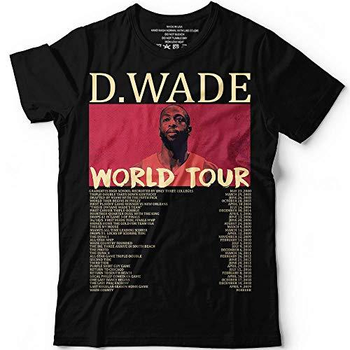 D.Wade World Tour 2019 Basketball Customized Handmade T-Shirt Hoodie/Long Sleeve/Tank Top/Sweatshirt
