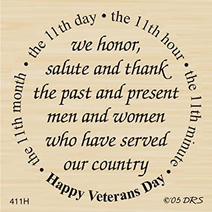 Amazon veterans day greeting rubber stamp by drs designs arts veterans day greeting rubber stamp by drs designs m4hsunfo