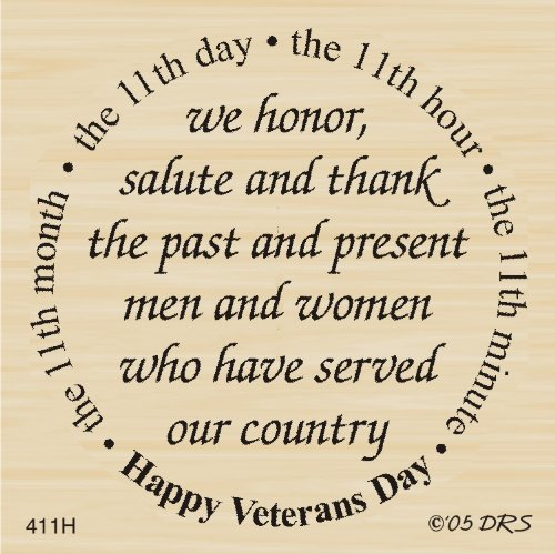 Veterans Day Greeting Rubber Stamp By DRS Designs by DRS Designs Rubber Stamps