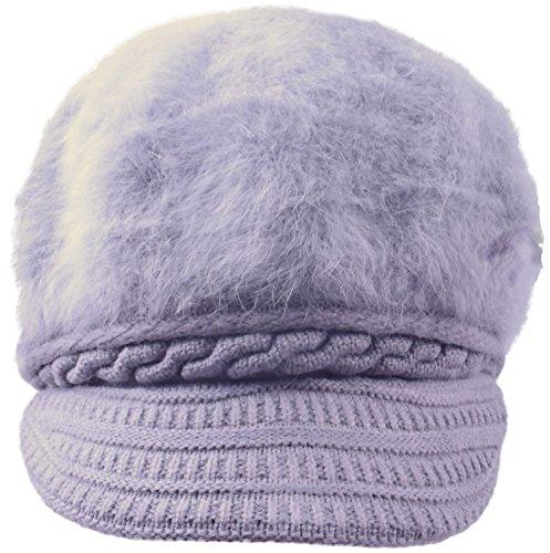 SUNNYTREE fashionable light grey ski wool warm knit hat for girls Light Grey