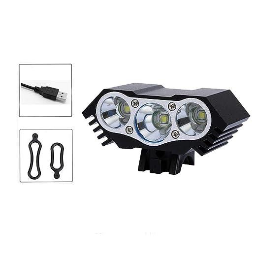 PROKTH   Frente de luz LED para Bicicleta USB - Faros Impermeables ...
