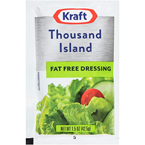 Kraft Fat Free Salad Dressing - Kraft Fat Free Thousand Island Dressing, 1.5 oz. sachet, Pack of 60