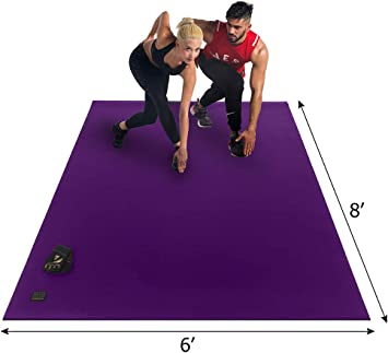 Amazon Com Gxmmat Extra Large Exercise Mat 6 X8 X7mm Thick