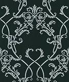 Beacon House 283-46902 Ink Candela Silver Chandelier Wallpaper