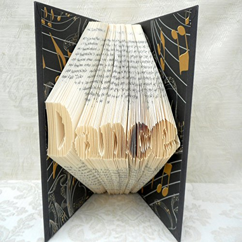 Hand Folded Book Art Sculpture, Dance, Gift for Dancer, 1st Paper Anniversary, Upcycled Decoration by Dreamscape Studio