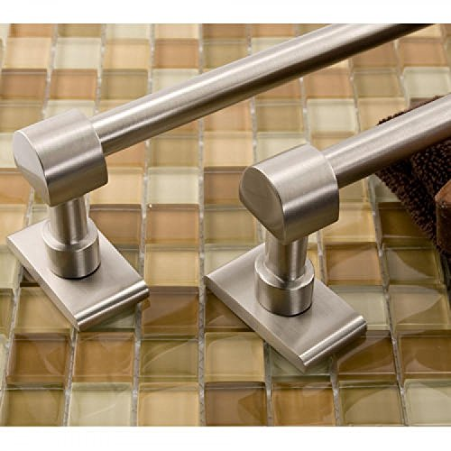 """Naiture 30"""" Wall Mount Brass Towel Bar In Brushed Nickel Finish cheap"""