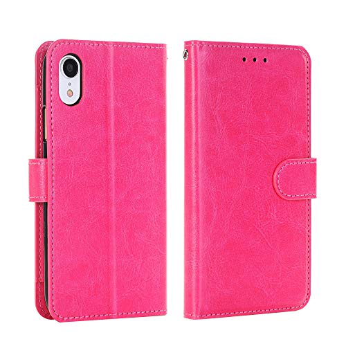 """Price comparison product image iPhone X / Xs Case,  Buybuybuy Flip Folio [Kickstand Feature] PU Leather Wallet case with ID&Credit Card Pockets for Apple iPhone X (2017) / Xs (2018) 5.8"""" (Hot Pink)"""