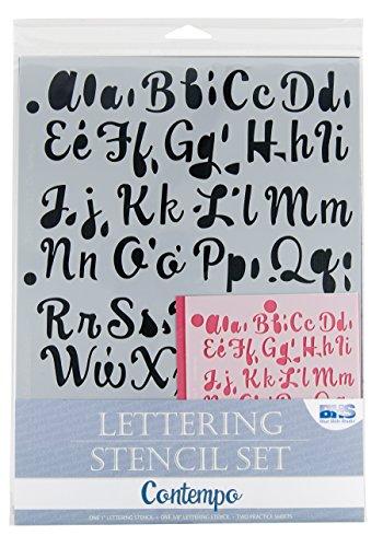 Blue Hills Studio BHS107SET Lettering Stencil Set Contempo