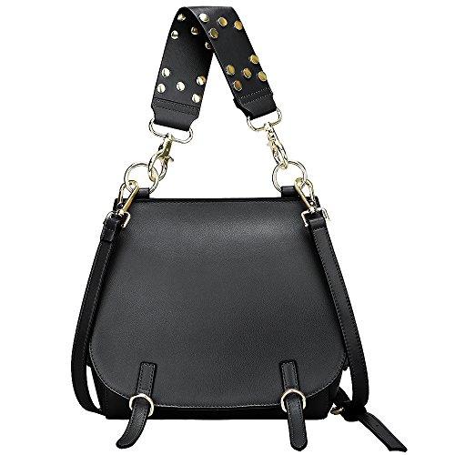 On Clearance - S-ZONE Women's Leather Handbags Purse Shoulder Crossbody Bags Satchel