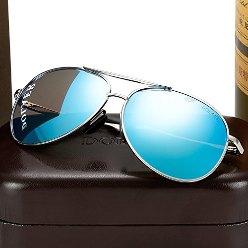 de Blue blanco Macho sol sol KOMNY Chip The gafas polarizador gafas Plata tendencias redondas conductor Gafas de Silver Box hombres gafas enmarcado mercurio Macho ojos conducir SwHqz
