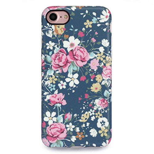 iPhone 7 Case for Girls/iPhone 8 Floral Case, GOLINK Floral Series MATTE Finish Slim-Fit Anti-Scratch Shock Proof Anti-Finger Print Flexible TPU Gel Case For iPhone 7/iPhone 8 - Vintage Roses