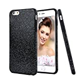 iPhone 6 / iPhone 6S Case Cover, HESPLUS Glitter Bling Anti-Shock Soft Gel Flexible TPU Rubber Case for iPhone 6 / iPhone 6S 4.7 Inch - Black