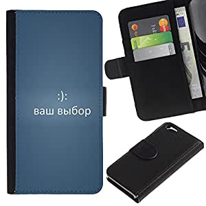 Stuss Case / Funda Carcasa PU de Cuero - DIVERTIDA - MENSAJE DE RUSIA 2 - Apple Iphone 6