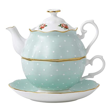 f1cdb7ab0da Polka Rose by Royal Albert Tea for One: Amazon.co.uk: Kitchen & Home