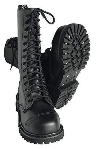 14 Buchi Rangers Stivali con Cappa in acciaio Colore Nero o Bordeaux Lacci da scarpe Nero