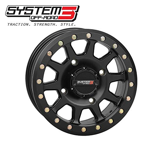 Dragonfire Racing 19-0082 SB-3 Beadlock Wheel - 14x10-5+5(0mm) - 4/156 - Matte Black ()