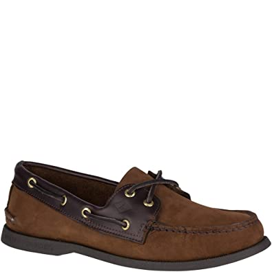fed001a7bdbe5 Sperry Top-Sider Authentic Original Leather Boat Shoe Men 11.5 Brown Buck