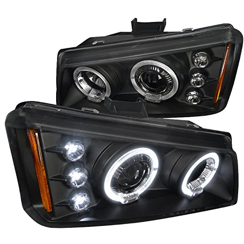 Spec-D Tuning 2LHP-SIV03JM-TM Chevy Silverado Avalanche Black Halo Led  Projector Headlights