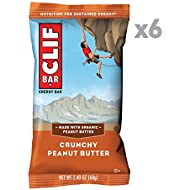 CLIF BAR - Energy Bars - Crunchy Peanut Butter - (2.4 Ounce Protein Bars, 6 Count)