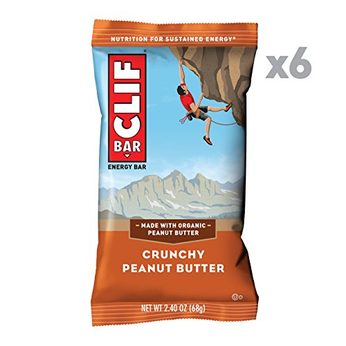 CLIF BAR - Energy Bar - Crunchy Peanut Butter - (2.4 Ounce Protein Bar, 6 Count)