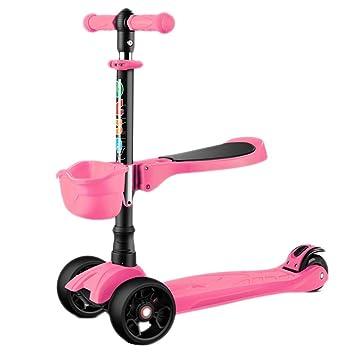 SCOOTERYW Scooter de Tres Ruedas Plegable para niños y ...