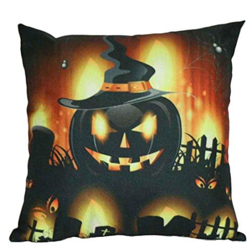 Halloween Pumpkin Pillow - Halloween Pumpkin Square Pillow Cover Cushion Case Pillowcase Zipper Closure (Full Predator Costume For Sale)