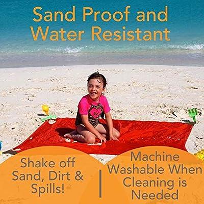 Monkey Mat - Original Mat | Lightweight Water/Sand Repellent Picnic Travel Blanket with Corner Weights - 5' x 5' (Gray Groove) : Baby
