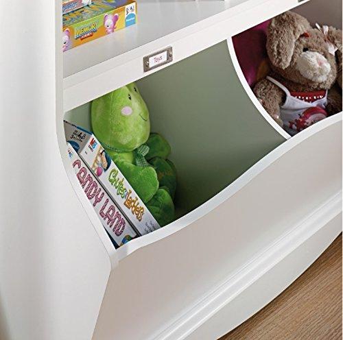 Sauder-Pogo-BookcaseFootboard-Soft-White-Finish