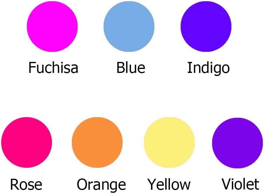 brilla en la oscuridad bronagrand 300/pcs UV cuentas multi cambia de color uv reactivo de pl/ástico diversi/ón para joyer/ía//pulseras Making