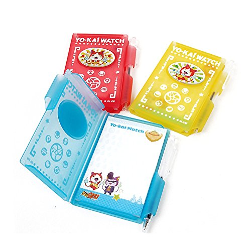 Memo Pad Ball - Yo-kai Yokai Watch Memo Pad with Ball Point Pen Set + Free Sticker : 1pc (Random)
