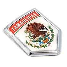 Tamaulipas Mexico Flag Mexican Car Emblem Chrome bike Decal 3D Sticker MX8