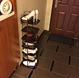 Iron shoe rack simple and modern shoe rack metal storage shoe cabinet the living room porch closes the multi-layer shoe frame-B 27x29x105cm(11x11x41inch)