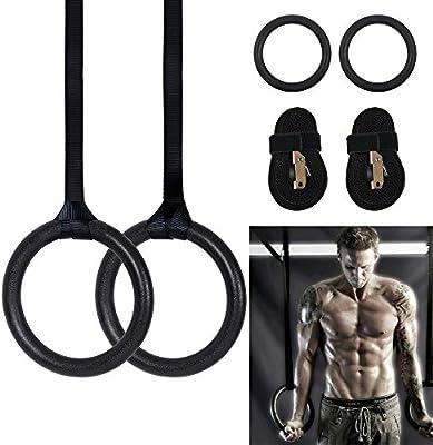 AllRight Paire de Anneaux Équipement de Gymnastique Olympique Musculation  pour Suspension Crossfit Force Formation Training Strength Fitness Exercice 29ae90dacdd