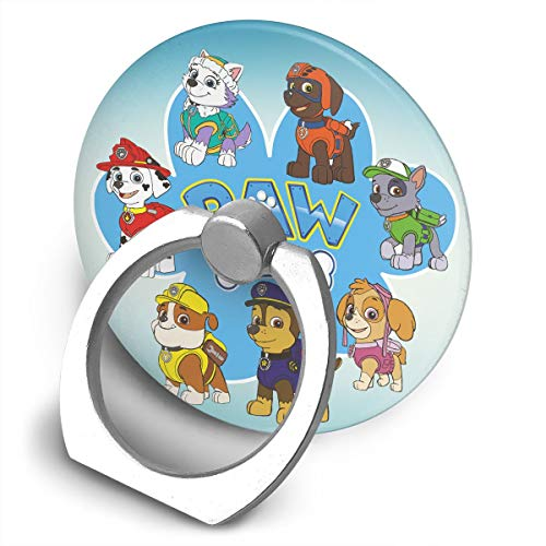 EdithL Paw Patrol Cellstand Cell Phone Finger Ring Stand, Car Mount 360 Degree Rotation Universal Phone Ring Holder Kickstand for iPhone/iPad/Samsung