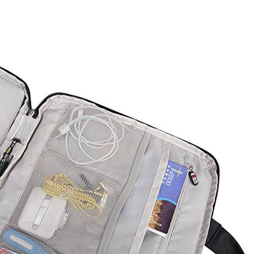Homyl Notebooktasche   Laptoptasche   Aktentaschen   Handtasche   für bis zu 13 zoll Laptop / Macbook / iPad - Grau Schwarz