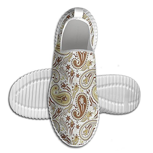 With Art DiamondsJun Hippie Over 3D Printed Style Unisex Persian Tulips Comfortable On All And Shoes Fashion Paisley Slip Patterns Mesh Floral wv7tzrqv