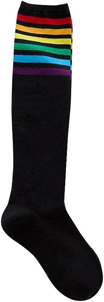 Socken hohe Regenbogen Oberschenkel Overknee